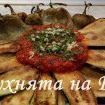 Пържени зеленчуци с доматен сос